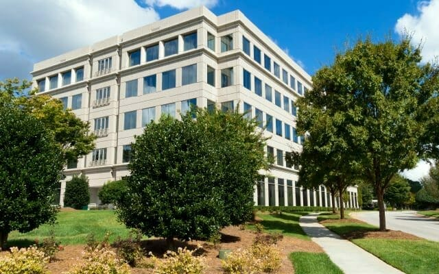 Raleigh office park landscaping and lawn maintenance