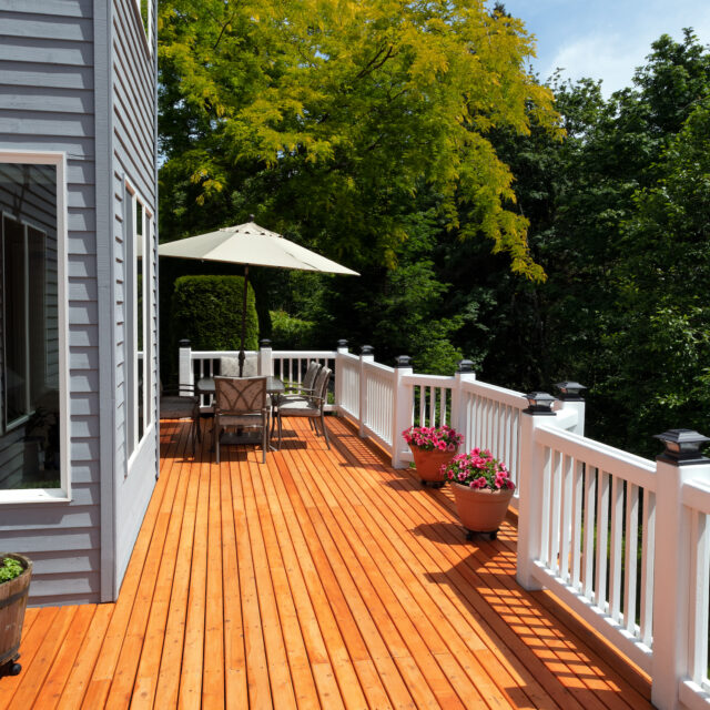 Deck with Railing in Raleigh, NC